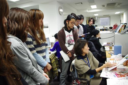 青木舞子さんからは雑誌デザインの仕事について紹介